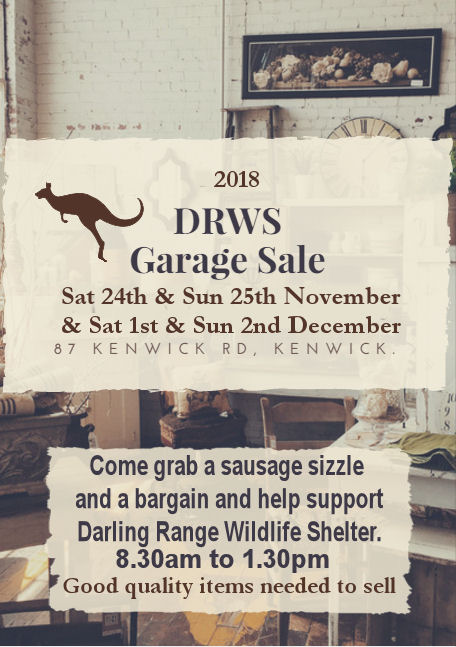 Our Next Garage Sale Fundraiser – November