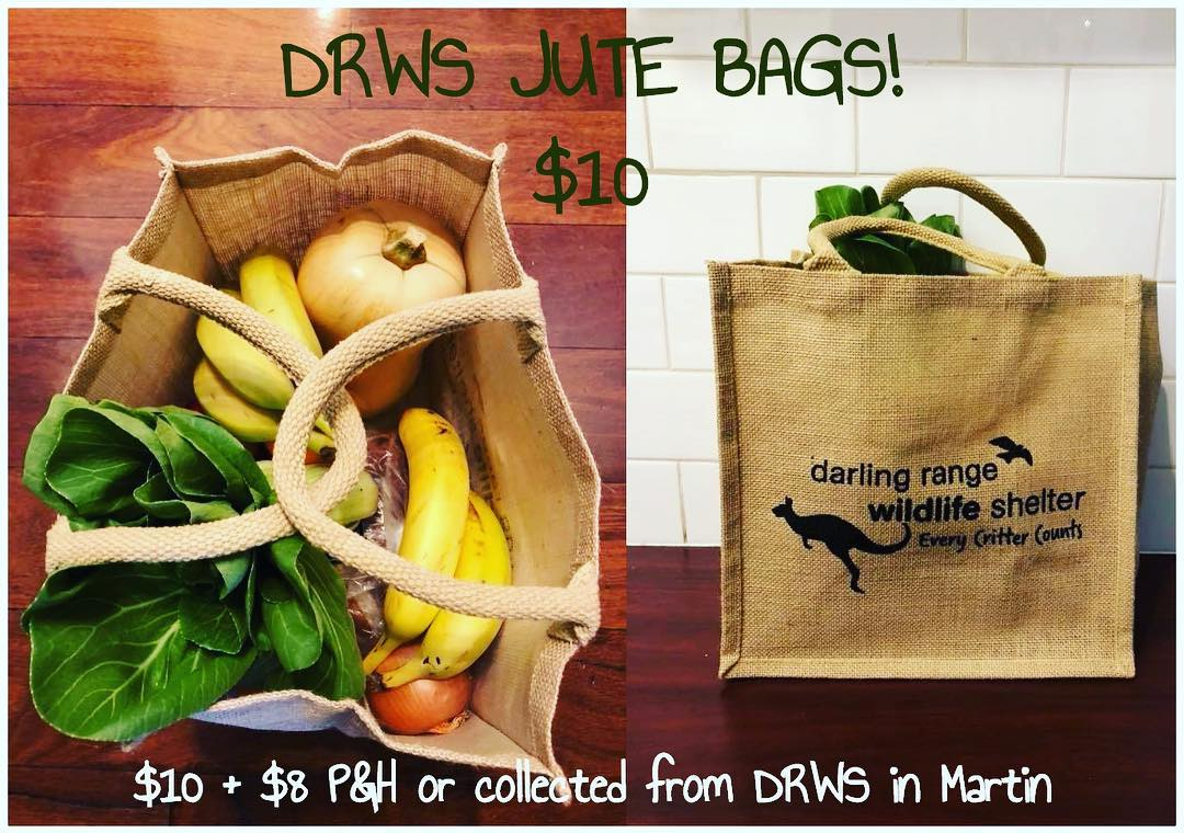 Purchase a DRWS Jute Shopping Bag – Support Wildlife Rehabilitation